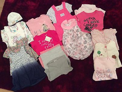Baby Girls Bundle Of Clothes 0-12 Months Over 12 Items