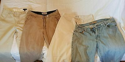 Lot of 4 pair of men's pants, jeans and khakis Old Navy Banana Republic 33 x 34