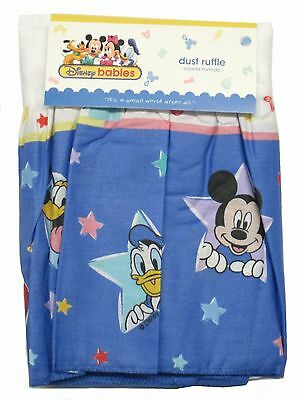 Nursery Disney Baby Dust Ruffle Crib Bed Skirt  Mickey Minnie Mouse Picnic Time