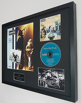 Maine Road Oasis Framed Montage-Limited Edition-Metal Plaque-Certificate