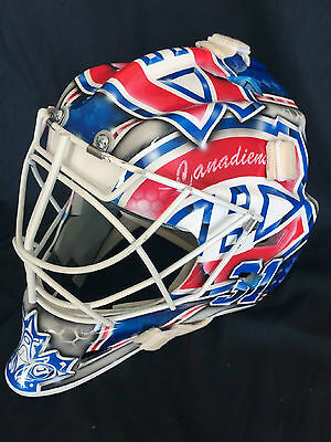 WALL  w10 PRO Carbon Goalie Mask helmet Montreal Canadiens Price theme