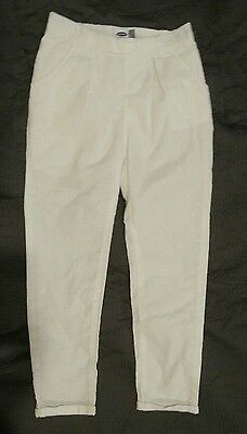 Nwt Girls Old Navy White Cotton Pants 5T 5 New