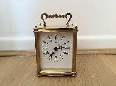 Small Brass Battery Carriage Clock - Smiths