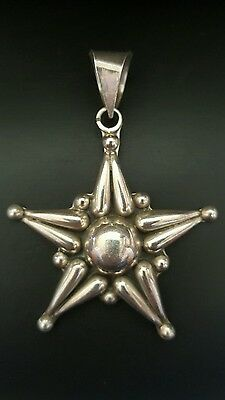 Sterling Silver 925 Star Pendant Chunky