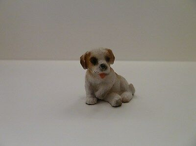 Dolls House Miniature 1:th Scale Garden Animal Resin Dog Poppy the Pup (5042A)