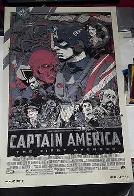 Captain America - Rare Limited Edition Variant Screen Print by Tyler Stout Mondo