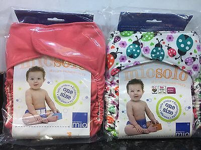 Brand New Bambino Mio Miosolo Reusable All In One Nappies X2 One Size Nappy Set