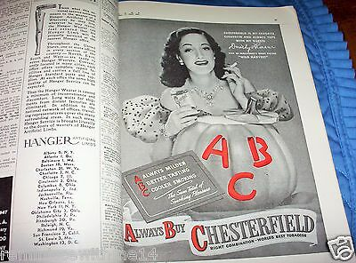 1947 American Medical Association (Ama) Journal- Dorothy Lamour - Chesterfield
