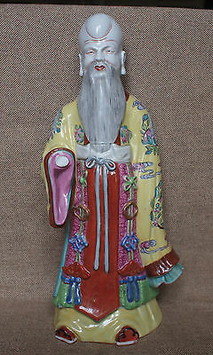 Chinese Republic period famille rose porcelain figure of Shoulao.