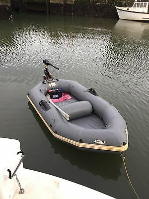 avon redcrest inflatable boat and new electric motor
