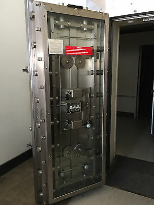 Mosler 1950's Bank Vault Door, Gate and Deposit Boxes