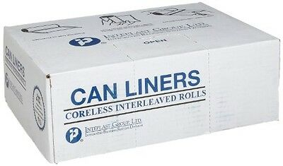 """Inteplast Group S334017N HDPE 33 Gallon Can Liner, 0.66 Mil, Star Seal, 40"""" x"""