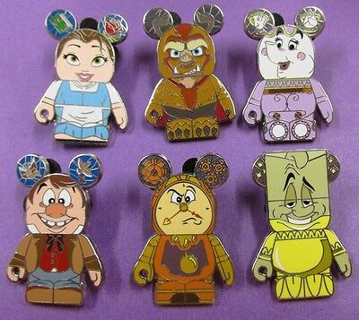 Disney Trading Pins Mixed Lot - BEAUTY AND BEAST MYSTERY VINYLMATION Set MMT#S10