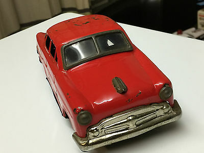 Vintage Tinplate Battery Operated Toy Car - Made In Japan