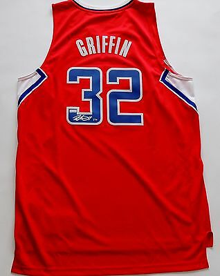 Autographed Panini Blake Griffin Los Angeles Clippers Red Jersey