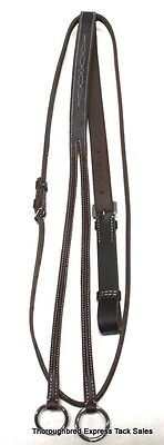 D.A. Brand Dark Brown Fancy Stitched Raised Running Martingale Horse Tack