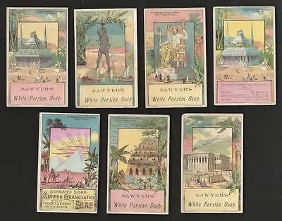 Lot 7 Cards, 7 Wonders of the World, Soaps & Oil Gauge Stove