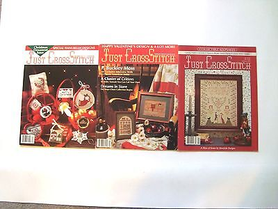 """Lot of 3 """"Just Cross-Stitch"""" Craft magazines - see listing"""