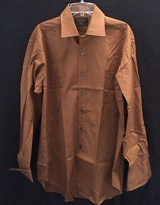 Vtg NOS Dead Stock Sears Premiere French Cuff Shirt~17 35~50/50~Spread Collar