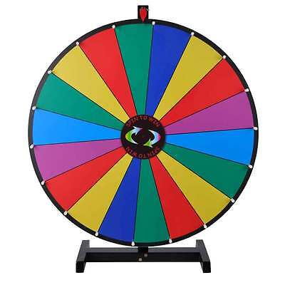 """Upgraded Editable 30"""" Color Prize Wheel of Fortune Trade Show Tabletop Spin Game"""