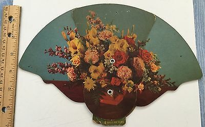 VINTAGE ADVERTISING FAN Vail Funeral Home Madison Indiana Flowers