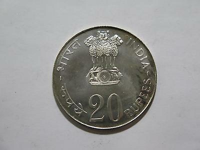 India Bombay 1973 Silver 20 Rupees Grow More Food World Coin Collection Lot Fao