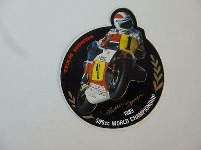 500 CC World Championship Sticker Decal Team Honda Motorcycle 1983 Spencer only1