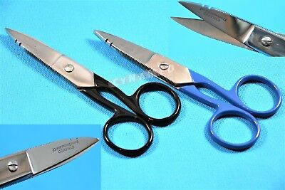 2 Electrician Scissor for Cutting & Stripping Wires Electrical Repair Tool 5.25""