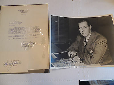 Massachusetts Polititical Autograph set Sec.of Labor,Gov.Mayor Maurice J.Tobin