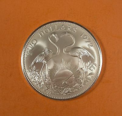 1972 BAHAMA 2 DOLLAR COIN - Silver - UNCIRCULATED