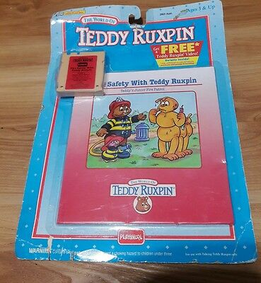 1992  TEDDY RUXPIN Book & Tape Set Safety  new Sealed