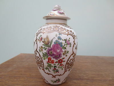 "Early BOOTHS  Lidded Pot - England-silicone china 6.5"" - Lid has been restored"