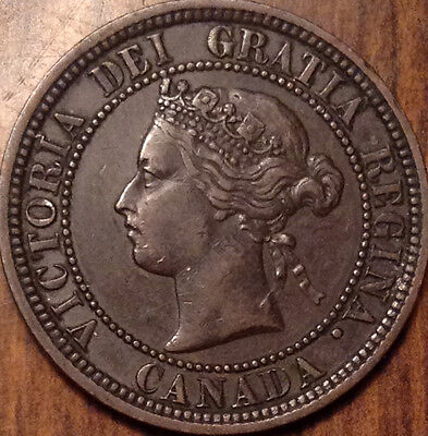 1881H Canada Large Cent In Outstanding Condition !