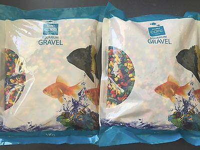 Aquarium Gravel Rainbow Neon - 1kg x 2