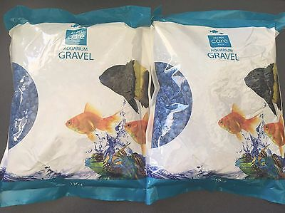 Aquarium Gravel Blue - 1kg x 2