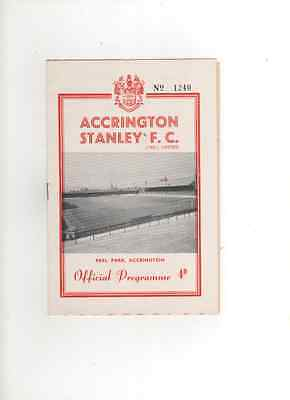 1961-62 ACCRINGTON STANLEY v MANSFIELD TOWN 4th September 1961 Division 4