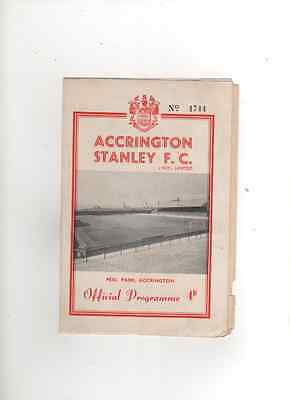 1961-62 ACCRINGTON STANLEY v TRANMERE ROVERS 16th December 1961 Division 4