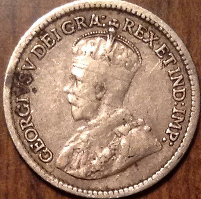 1913 Canada Silver 5 Cents In Good Condition