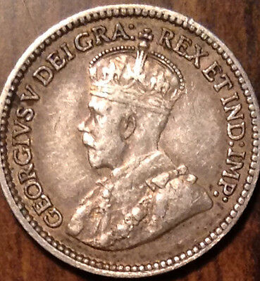 1913 Canada Silver 5 Cents In Beautiful Condition