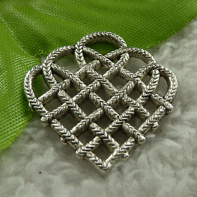 free ship 108 pieces tibet silver heart charms 27x27mm #3980
