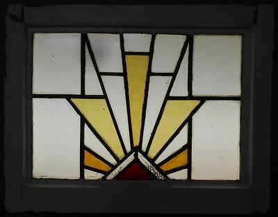 "OLD ENGLISH LEADED STAINED GLASS WINDOW Sunrays 20.75"" x 16.25"""