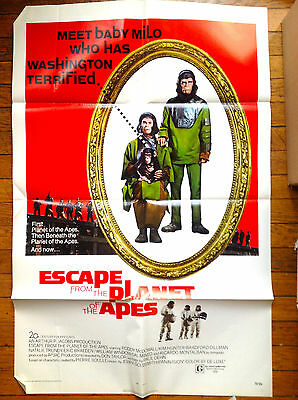 poster ESCAPE FROM PLANET OF THE APES ('71) original 1-sheet NEAR MINT