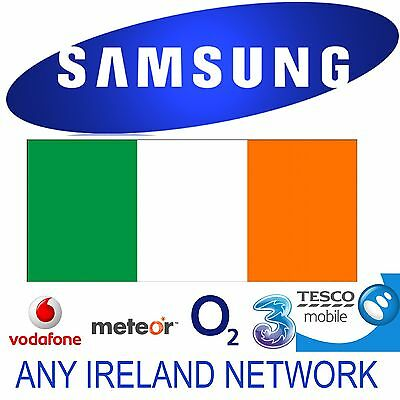 Unlock Code Samsung Galaxy S9 S8 S8+ S7 S7 Edge S6 Ireland Three Vodafone O2 Eir