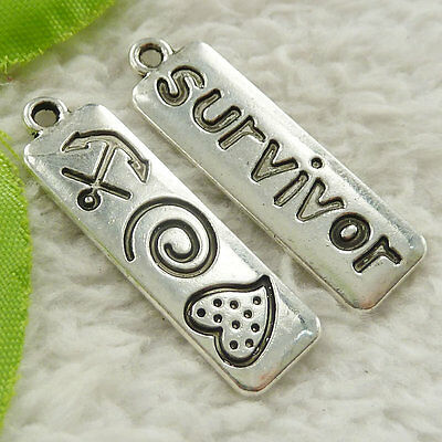 88 pieces tibet silver survivor charms 35x10mm #4657 free ship