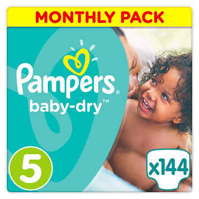 Pampers Baby-Dry Nappies Monthly Saving Pack - Size 5 Pack of 144