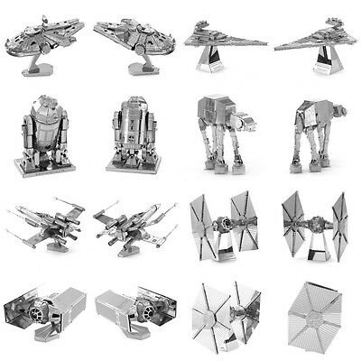 Star Wars Puzzle Models Mini Metal 3D Laser Cut Puzzle DIY Kids Education Toys