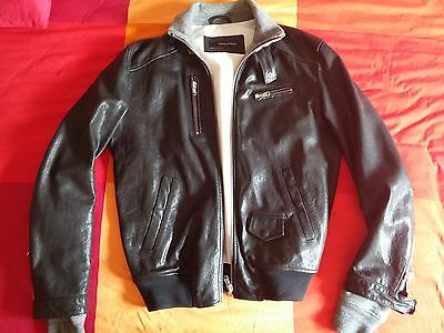 Giacca giubbotto dsquared  54 pelle ( 52- XL-XXL)jacket leather dsquared