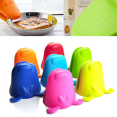 SUP Microwave Mitts Kitchen Cooking Silicone Nonslip Insulated Glove Hippo Cute