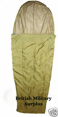British Army - JUNGLE SLEEPING BAG + COMPRESSION SACK - Grade 1 Condition