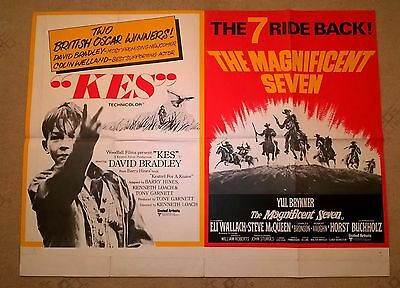 Kes / The Magnificent 7- 1971 - Uk Quad Poster 30 X 40 .stunning! Excellent Look